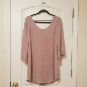 Astr The Label Pink Nude Flowy Dress S